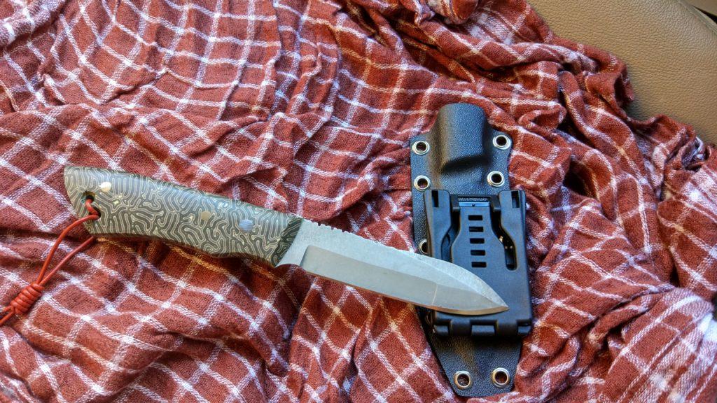 """Нож BROKER. Экспериментировал на пути к серии """"Пионер"""". Странный уродец получился."""