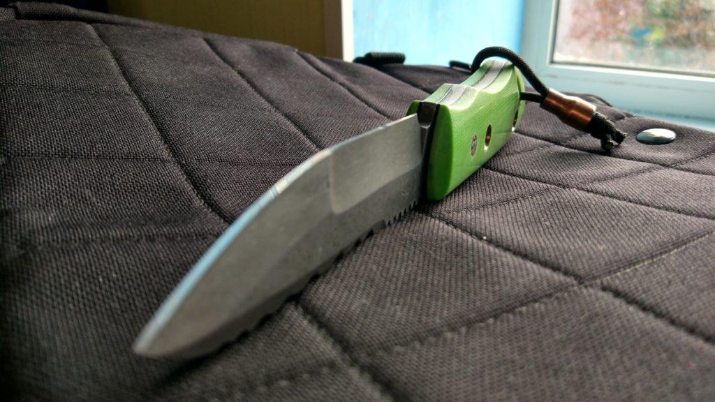 """Сложный гринд клинка использовал на трех ножах серии """"Пионер""""."""