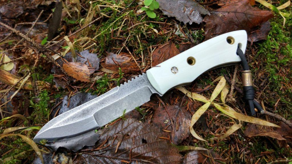 Нож Пионер с комбинированными спусками(сложный гринд). Оставил себе.