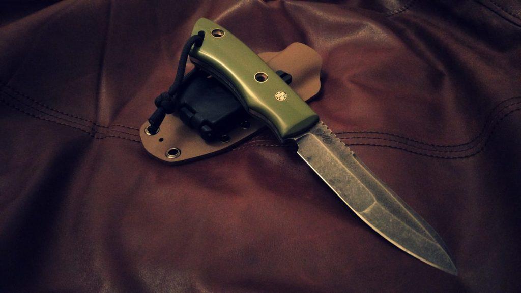 """Последний, десятый нож серии """"Пионер"""". Уехал в подарок боевому офицеру."""